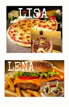 Lisa or Lena? My true love is defenitely Lena! Comment below if you want more of this pics + who you will choose! Lisa Or Lena, Creative Food, Friend Outfits, Siblings, Memes, Donuts, Hamburger, Smooth, Pastel