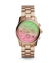 Michael Kors watch. ♥️ Runway flash dial watch, rose gold-tone/pink. Irrisitibly cool! MK6179