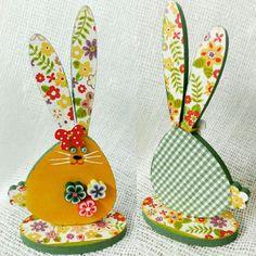 Cute bunnies 🐇 #olga_workshop #decoupage #decor #handmade #rabbit
