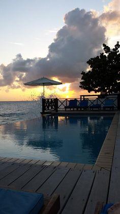 Amazing Sunset at our infinity pool @Scuba Lodge - www.scubalodge.com
