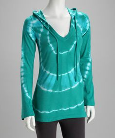 Take a look at this Columbia Ring Around Tie-Dye Hooded Tee by Shape & Tone: Women's Activewear on #zulily today!