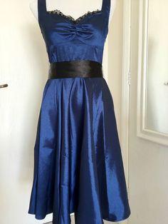 Blue 50's Pinup Rockabilly Retro Bridesmaid Hepburn Vintage Prom Dress