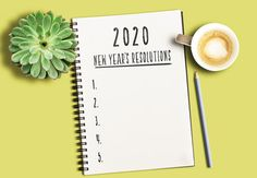top view of notepad with text 2020 New Years Resolutions and numbered list on yellow desk with succulent plant and cup of coffee - Buy this stock photo and explore similar images at Adobe Stock Valentines Day Cards Diy, Yellow Desk, Top View, Planting Succulents, Resolutions, Diy Cards, Coffee Cups, Adobe, Stock Photos