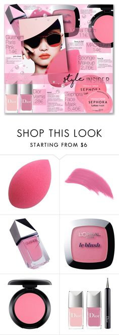 """""""#BEAUTY : Pink Mood"""" by sweetnovember66 ❤ liked on Polyvore featuring beauty, GUiSHEM, L'Oréal Paris, MAC Cosmetics, Christian Dior and Sephora Collection"""
