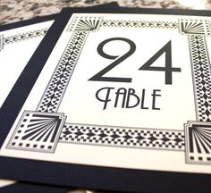 CUSTOM for Cassie 10 Art Deco Table Numbers Wedding Decor Sign Custom Great Gatsby Roaring Twenties Classic Historical via Etsy