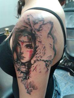 Princess Mononoke Tattoo by His-Highness