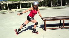 How to do a backwards inverted Powerslide on rollerblades or inline skates.  [This short tutorial of a complex backwards sliding stop by Asha Kirkby from Skatefresh will move your stops into the next league. Make sure your normal backwards Powerslide is perfect before trying this one.]