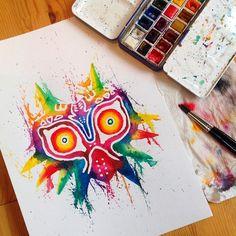 Watercolor Majoras Mask