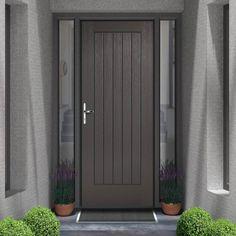 Norfolk Charcoal Grey Embossed Composite Door is a beautiful new composite door which is hardwood embossed, excellent durability and stunning finish. Grey Composite Front Door, Timber Front Door, Grey Front Doors, House Front Door, Modern Front Door, Main Entrance Door Design, Front Door Design, Main Door, Entrance Doors