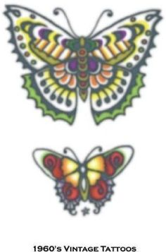 OFF or FREE SHIP -Tattoo Vintage Butterflies : Temporary Tattoo! So realistic your friends will think it's real. Vintage Butterfly Tattoo, Butterfly Name Tattoo, Butterfly Tattoo On Shoulder, Butterfly Tattoo Designs, Tattoo Vintage, Realistic Temporary Tattoos, Fake Tattoos, Tribal Tattoos, Art Clipart