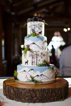 Keystone Ski Resort Mountain Wedding Cake