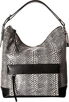 4843e752f2 Amazon.com  COACH Women s Bleecker Pinnacle Painted Snake Hobo White Handbag   Shoes