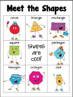 meet the shapes poster | Meet the Shapes: Free poster - cute! More