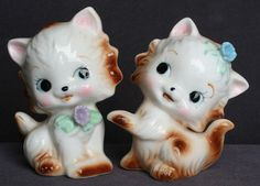 Vintage Kitten Salt & Pepper Shakers 1950's Adorable