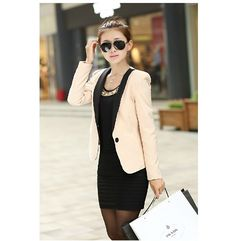 Nice Nice Womens Fall Fashion Blazer Buckle Candy Color Stitching Slim Small Suit Women Blazers And Jackets Blazer Femme JT99