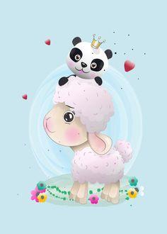 Baby Sheep Cute Character Painted With Watercolor Cute Cartoon Drawings, Cute Kawaii Drawings, Cartoon Sketches, Animal Drawings, Baby Sheep, Cute Sheep, Eid Stickers, Animal Posters, Animal Coloring Pages