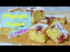 Prăjitură DE POST cu zmeură || 🌱 DULCINELE 💚 - YouTube No Cook Desserts, Vegan Cake, Muffin, Cakes, Cooking, Breakfast, Youtube, Food, Kitchen