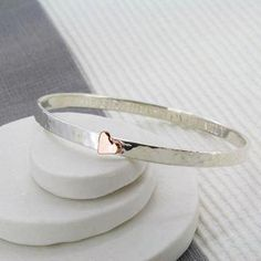 Ideas For Jewerly Rings Simple Bangle Bracelets Silver Bar Necklace, Silver Bangles, Sterling Silver Bracelets, Silver Earrings, Earrings Uk, Garnet Earrings, 925 Silver, Pendant Necklace, Bangles Making