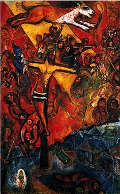 """Marc Chagall, 1937/1948, Résistance, Series of three monumental paintings called """"Révolution"""""""