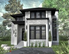 We want white textured walls and a dark black/grey metal roof Small Modern House Plans, Modern House Design, Small Modern House Exterior, African House, Industrial House, Facade House, Home Design Plans, House Layouts, House Goals