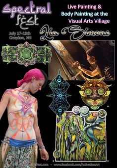 Lia Simone is a live painter, body painter and practicing hypnotist from NY.  She will be joining us again at the Visual Arts Village, for live canvas painting amnd Body Painting for Spectral Fest, July 17-19th, 2015.  Meet her there or see more of her work at www.SpectralFest.com, www.facebook.com/SpectralSpiritFest or  www.facebook.com/ActivationArt #spectralfest, #spectralexperience