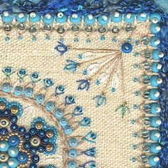 Beaded embroidery.