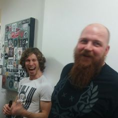 Jonny is laughing with you Jager. Jonny Hawkins, Nothing More (Texas) with DJ Jager (Louisiana) down under. Reliving good times at Clicks.