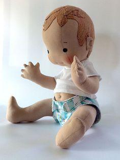 Custom baby boy doll by MonPetitFrere, via Flickr