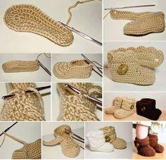 Botitas de Crochet para Bebe Paso a Paso - Patrones Crochet