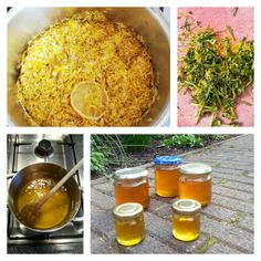 PAARDENBLOEMSTROOP Ingrediënten: - bloemblaadjes van 100 paardebloemen (niet wassen!) - 500 ml water - halve citroen in plakken, inclusief schil - 500 gr suiker. Bereiding: blaadjes, water en citroen kwartier laten koken. Geheel nacht laten trekken. Volgende dag vocht zeven door kaas- of theedoek. Gele vocht met suiker laten inkoken (+/- 30 minuten: lijkt op warme honing). Laten afkoelen (de stroop dikt dan nog in).  Te dik? Water toevoegen en nogmaals verhitten. Te dun? Laten doorkoken tot…