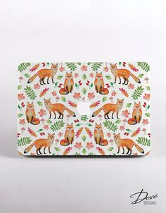 Foxes Macbook Case for all macbook cases. Hard Shell for MacBook pro, MacBook Pro Retina Display and MacBook Air by DessiDesigns on Etsy