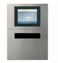 One step up from D-Tech's BookReturn, this one has a screen that offers the user some instructions.  Like their BookReturn product, the hatch stays closed until a library item is detected (RFID required).  Can be configured with a receipt printer.  Can use with 2,3, or 5 bin sorter.
