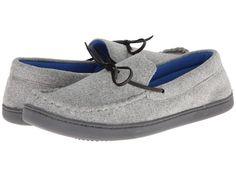ISOTONER Signature Zachary (Grey/Royal) Men's Slippers Men's Slippers, Grey, Gray