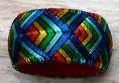 Yubinuki thimble ring in Rainbow Waves by Lydia Preckel