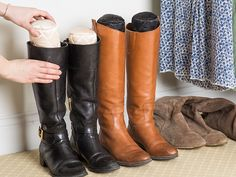 Quilted inserts for your best boots and handbags. Prevent creases and wear, while making storage easy and your closet tidy. Made in the USA.