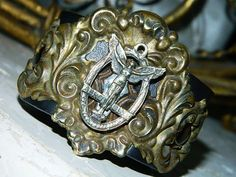 angels abound leather cuff by GraceandCorazon on Etsy, $122.00