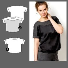 Bluse Modern Outfits, Business Outfits, Sewing Clothes, Dressmaking, Sewing Patterns, How To Wear, Tops, Design, Women