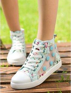 Floral and fun shoes