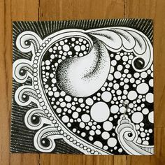 """Everything Is Art: Pink """"W2"""" Zentangle"""
