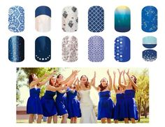 Wedding party with coordinated jamberry!! www.natalieyanos.jamberrynails.net