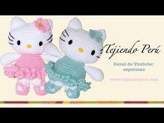 Esperanza y Ana Celia Rosas - YouTube Crochet Patterns Amigurumi, Amigurumi Doll, Crochet Dolls, Hello Kitty Crochet, Crochet Baby Clothes, Doll Tutorial, Crochet Videos, Christmas Toys, Crochet Animals