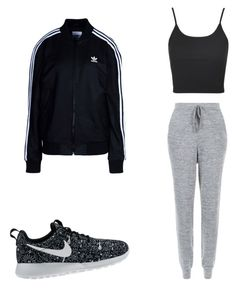"""""""Untitled #44"""" by sunset14blvd on Polyvore featuring Topshop, NIKE, New Look and adidas Originals"""