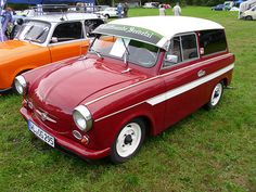 Trabants smoked like an Iraqi oil fire, when they ran at all, and often lacked even the most basic of amenities, like brake lights or turn signals Quad, East German Car, Veteran Car, East Germany, Kustom Kulture, Station Wagon, Vintage Cars, Cool Cars, All About Time