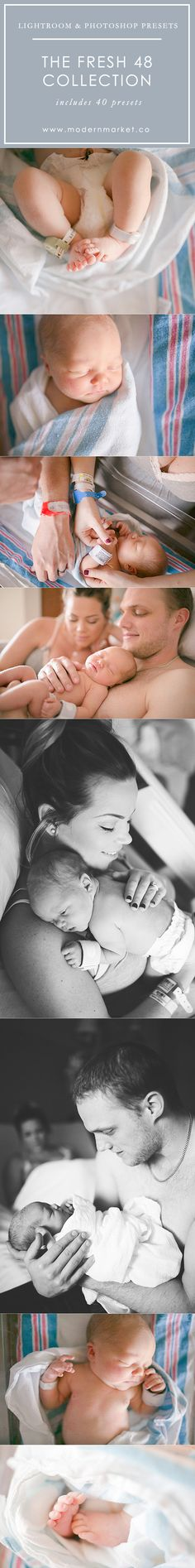 Perfect presets for in hospital sessions! This is for those of you who love offering clients Fresh sessions 48 & Birth photography!
