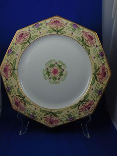 """Czecho-Slovakia Arts & Crafts Floral Motif Charger/Plate (Signed """"A. Rayton""""/Dated 1926)"""