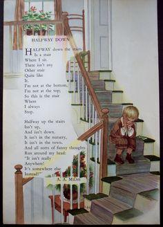Vintage children art books   Milne Art - Nursery Rhyme Print, 1948 vintage Childrens book ...