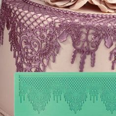Pavoni Magic Decor Essbare Spitze Silikon-Matte 37 x 14 cm Baroque Lace | MEINCUPCAKE Shop