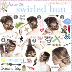 """swirled bun (: =♥"" by the-polyvore-tipgirls on Polyvore"