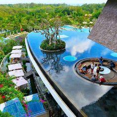 Located in Iimbaran Bay, Bali  Courtesy of @luxury...