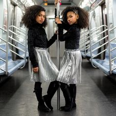 I am a fan of the New York subway. I love it -Brian F. Obyrne Photo by Outfits by Boots by Hair by Cute Mixed Babies, Cute Black Babies, Black Twins, Cute Twins, Cute Baby Girl, Cute Kids Fashion, Girl Fashion, Kids Outfits, Cute Outfits